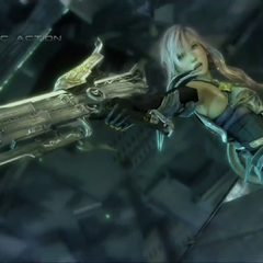 Gunblade in-game in <i>Final Fantasy XIII-2</i>.