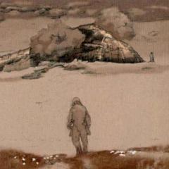 Concept art for <i>Final Fantasy X</i>.