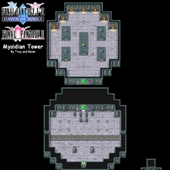 Mysidian Tower's Map (PSP).