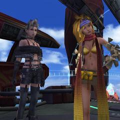 Paine with Rikku.