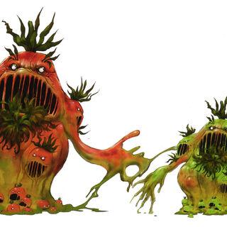 Concept artwork of the Mutantomato (right).