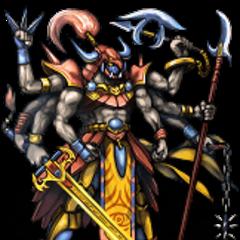 Gilgamesh's last form battle sprite (iOS).