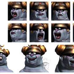 Concept artwork of Queen Brahne's CG facial expressions.