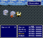 FFIV SNES Chocobo Kick