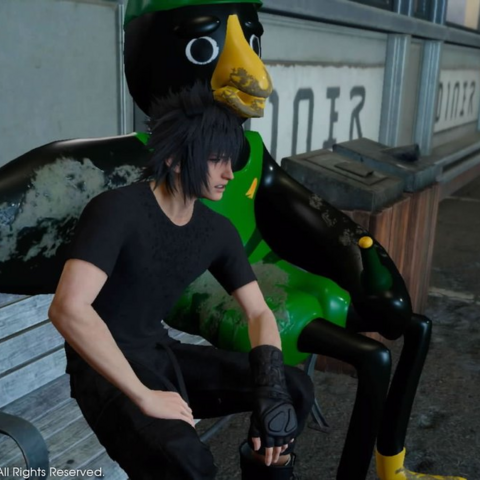 Noctis with Kenny Crow.