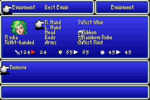 FFIV GBA Equipment Menu