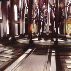 Artwork of the entrance to Orphan's Cradle.
