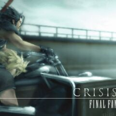Cloud and Zack chapter end image from <i>Crisis Core -Final Fantasy VII-</i>.