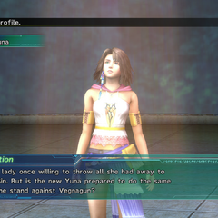 Yuna's profile in Shinra's Dossiers.