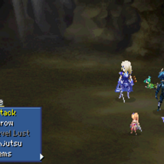 Rydia and Rosa under Mini status in <i>Final Fantasy IV</i> (DS).
