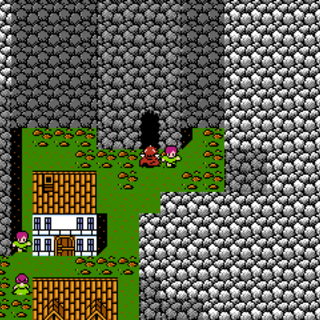 Entrance to the Mythril Mines (NES).
