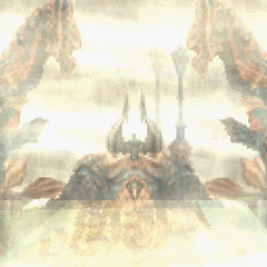 Chaos using Tornado in <i>Final Fantasy Tactics A2: Grimoire of the Rift</i>.