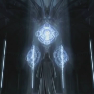 Ravus looking the Crystal Chamber of Lucis.