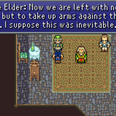 The Elder accepting the inevitability of war.