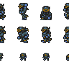 Set of Shadow's sprites.