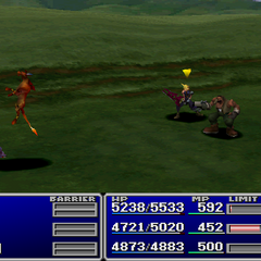 Red XIII using Deathblow.