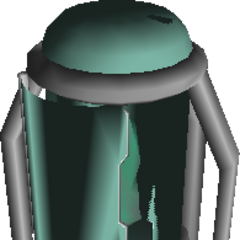 Field model for the Huge Materia container in <i>Final Fantasy VII</i>.