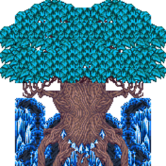 Exdeath's tree sprite in the pre-iOS versions.