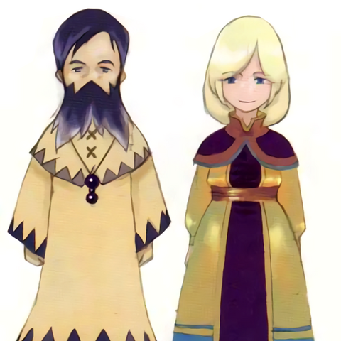 Concept art of Kluya and Cecilia from the developer's blog (DS).