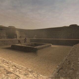 A courtyard.