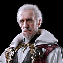 A portrait of Iedolas from the Japanese <i>Kingsglaive: Final Fantasy XV</i> website.