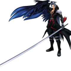Sephiroth's <i>Kingdom Hearts</i> appearance render from <i>Dissidia 012 Final Fantasy</i>.
