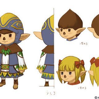 Tarutaru children in <i>Final Fantasy XI</i>.