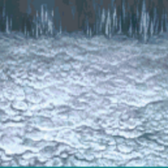 Battle background in the Lunar Subterrane (GBA).