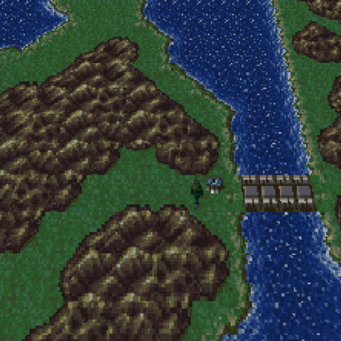Imperial Observation Post on the World Map (SNES).