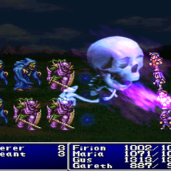 Doom6 cast on the party in <i>Final Fantasy II</i> (PS).