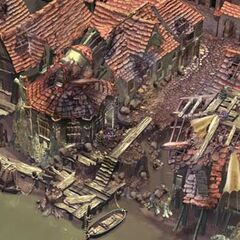 CG artwork for Alexandria's town harbor by Christian Lorenz Scheurer.