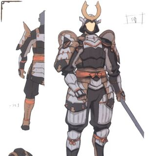 Concept art of a Samurai.