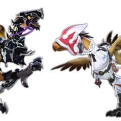 Various renders of Chocobo barding.