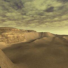 The desert expanse.