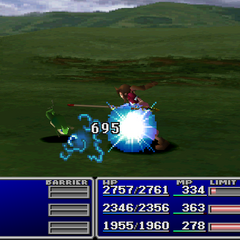 Aerith using Deathblow.