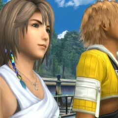 Yuna and Tidus in <a href=