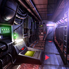 Submarine interior.