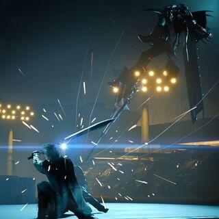 Aranea and Noctis clash.