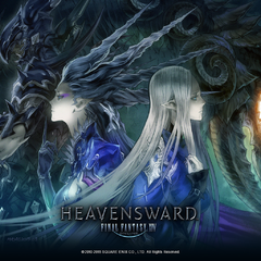 Shiva and Lady Iceheart in a promotion for <i>Heavensward</i>.