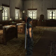 A bedroom in the manor in <i>Crisis Core -Final Fantasy VII</i>.