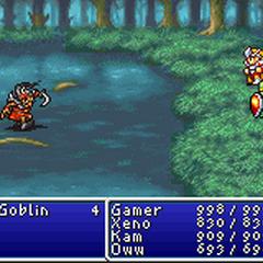 Flame Shield in <i>Final Fantasy</i> (GBA).