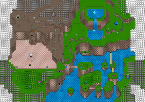 Map of Mystic Quest