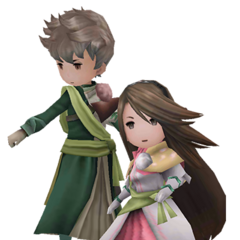 Tiz and Agnès as Swordmasters in <i><a href=