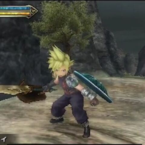 Cloud in-game.