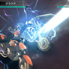 Reno attacking with his rod in the start of his Limit Break in <i><a href=