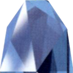 Blue Huge Materia as depicted in the <i>Final Fantasy VII Ultimania Omega</i>.