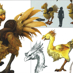 Concept artwork of a chocobo.