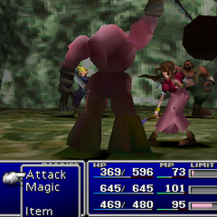 Aerith using Steal.