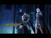 Ike and Yune in the final battle