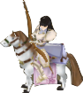 File:FE10 Astrid Bow Paladin Sprite.png